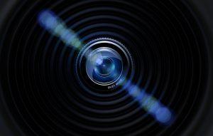 oeil de la caméra